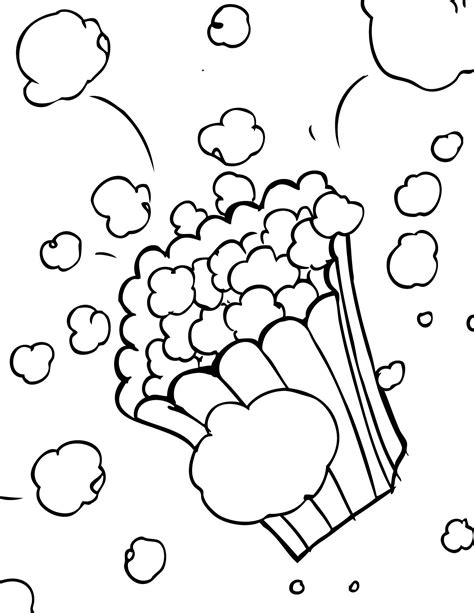 popcorn coloring pages preschool popcorn color page letter p week preschool kindergarten