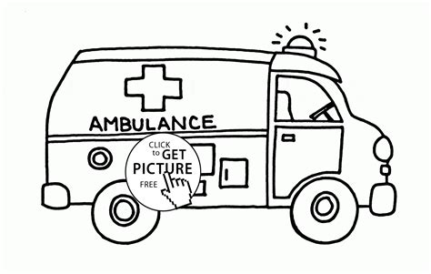 free coloring pages of ambulance cartoon ambulance coloring page for kids transportation