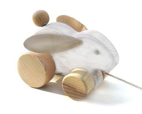 Handmade Wooden Toys Uk - toypost pull along toys rabbit handmade