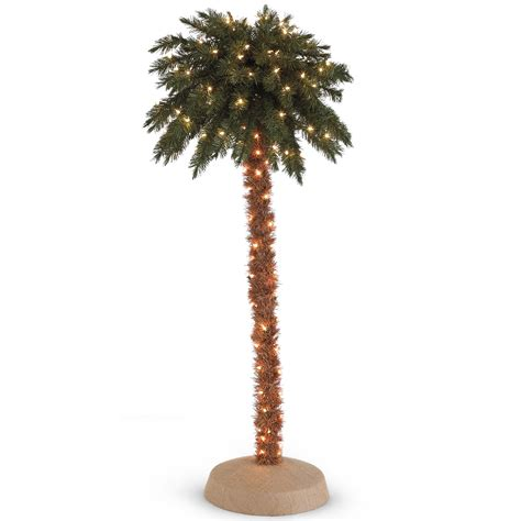 coupons for pre lit palm christmas tree trio with clear