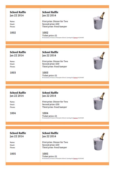 raffle tickets template word printable free ticket templates ticket