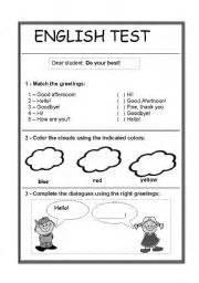 english worksheet easy english test