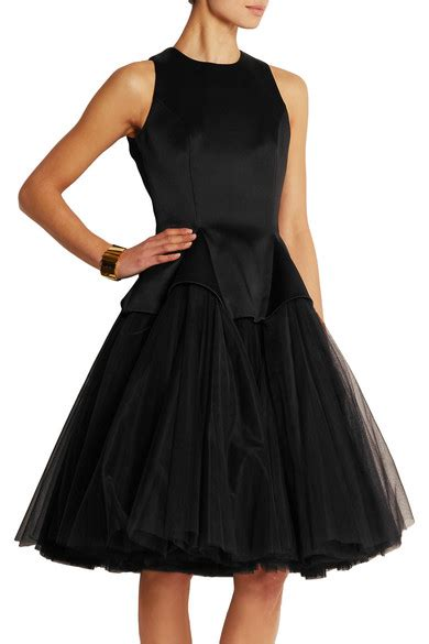 Friday Afternoon Dresses From Net A Porter by Christopher Satin And Tulle Dress Net A Porter