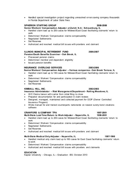 Claims Insurance Department Of Resume by Claims Resume