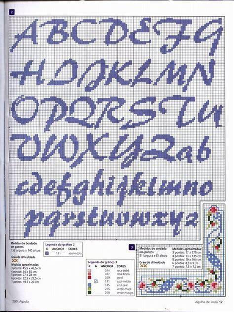 lettere minuscole punto croce avete schemischemi di lettere a punto croce forum