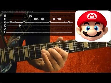 tutorial guitar mario bros super mario song guitar tutorial guitar lesson super