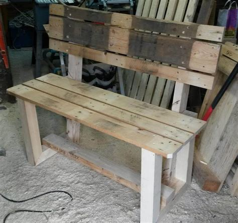 wooden pallet bench rustic inspired wooden pallet bench pallet furniture diy