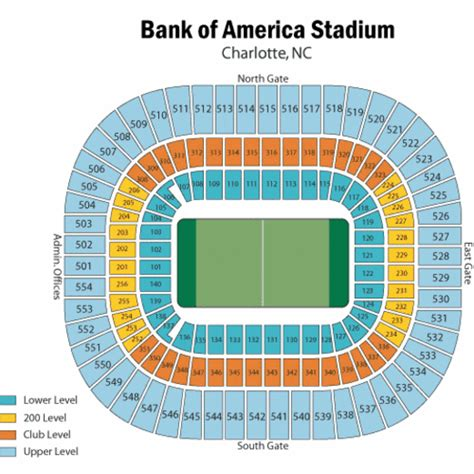 bank of america stadium seating acc chionship tickets theticketbucket