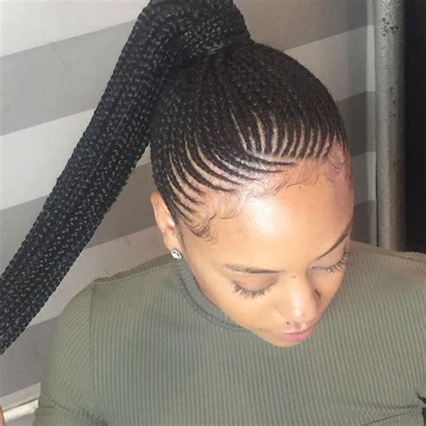 corn rows into ponytails pinterest alexabom braids styles pinterest follow