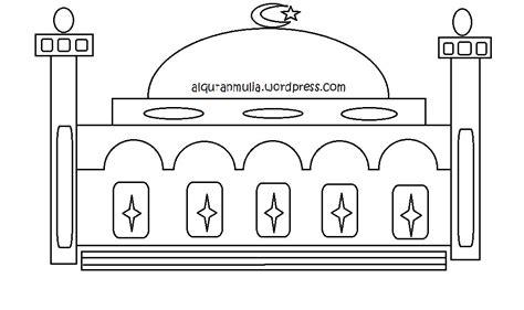 mewarnai gambar masjid4 anak muslim alqur anmulia