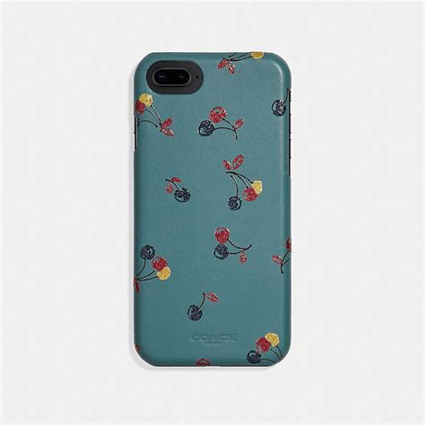 coach iphone 6s 7 8 x xs with cherry print
