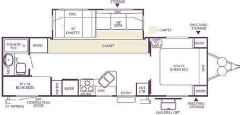 wildwood travel trailer floor plans used 2003 forest river wildwood 30bhss travel trailer for