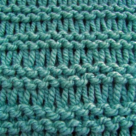 knit into stitch stitches rows 1 and 2 knit row 3 knit into each