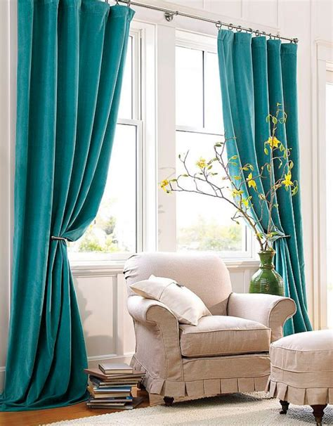 Aqua Color Curtains Designs Turquoise Window Curtains In Home Decor Of Me