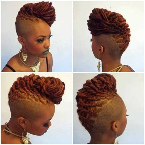 black women mohawk hairstyles and dreads in the middle dreadlock mohawk hairstyle for women locs shaved sides