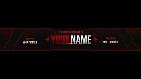 layout youtube gratis banner template photoshop best business template
