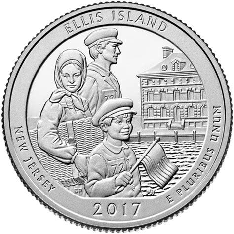 blue and the quarters ellis island proof quarter 2017 s proof america the
