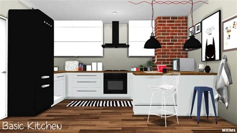 Scandinavian Chair by Kitchen Basic Conversion Updated By Mxims Teh Sims