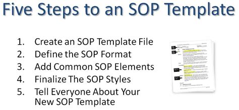 how to write an sop template writing a standard operating procedure sop template sop