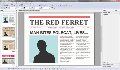 Free Powerpoint Newspaper Templates Turns You Into An Instant Media Mogul The Red Ferret Journal Free News Paper Template