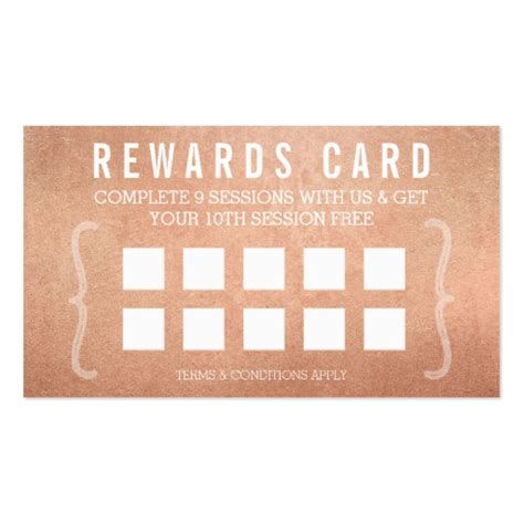 customizable punch card templates for business reward punch card simple minimal trendy gold zazzle