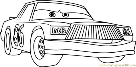 chick hicks from cars 3 coloring page free cars 3