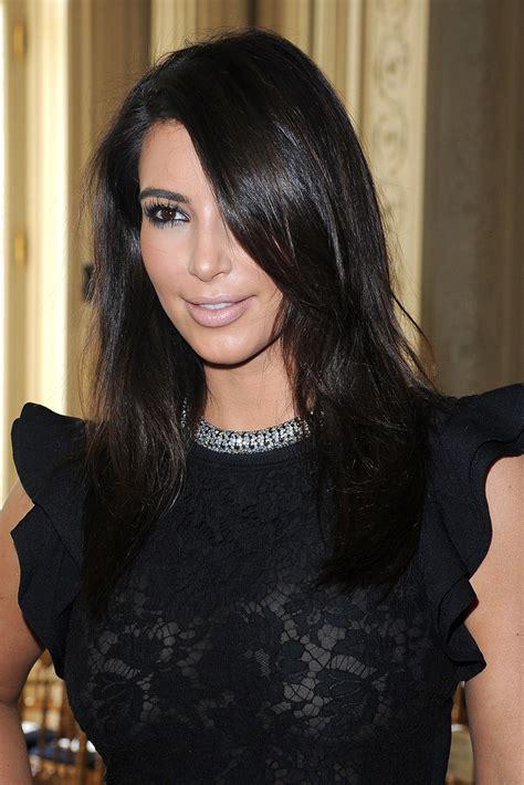 kim kardashian haircut 2012 kim kardashian long side part kim kardashian long