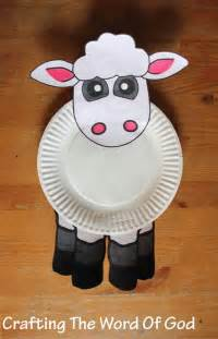 Sheep Paper Plate Craft - paper plate 171 crafting the word of god