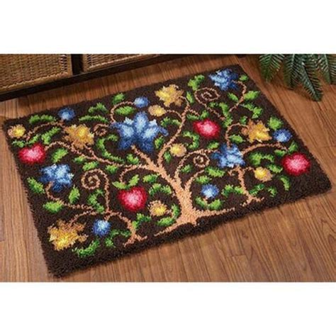 latch rug kits craftways 174 tree of latch hook kit