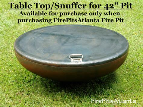 pit 42 inch steel table top shipped with firepit only