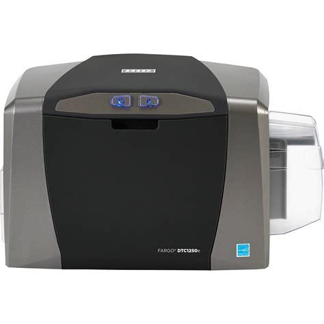 card printer fargo dtc1250e single sided id card printer 50000 b h photo