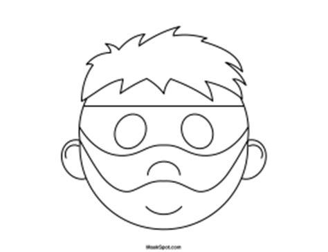 printable robber mask template printable robber mask