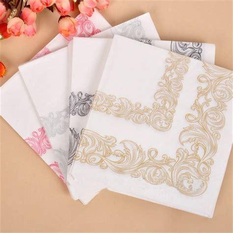 patterned paper dinner napkins 20pcs lot vintage fancy flower lace pattern wedding paper