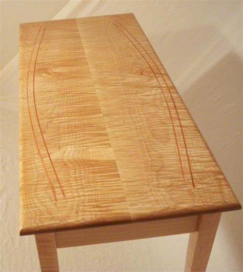 tiger stripe maple crafted tiger stripe maple sofa table by july s
