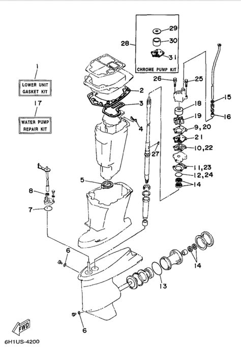yamaha outboard motor parts diagram 1998 yamaha repair kit 2 parts for 90 hp c90tlrw outboard