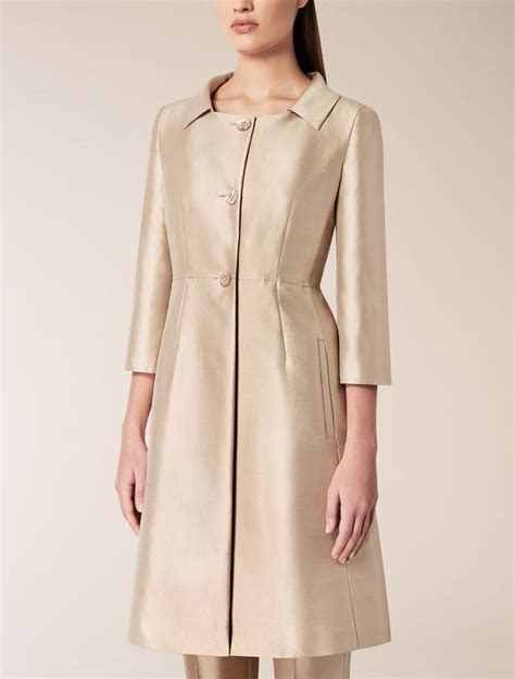 max mara zaza sand silk and cotton trench coat find your on the official max mara