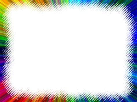 color frame frame multi color rainbow lines free images at clker