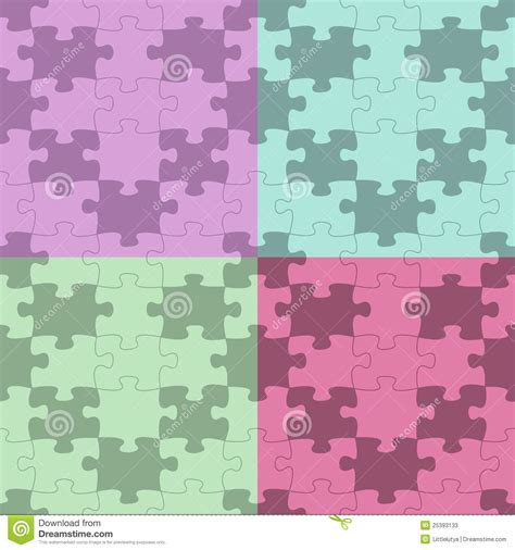 svg puzzle pattern seamless vector puzzle pattern stock photos image 25393133