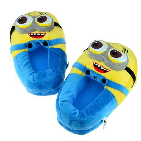despicable me house shoes new 2014 home slipper 3d eyes minion jorge despicable me women men soft plush house shoes in