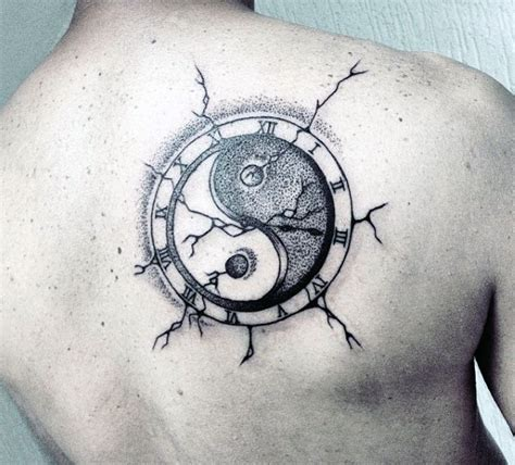 yin yang tattoo for men 60 yin tang tattoos for contrasting designs