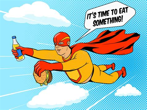 pop sanati and burger comic book vector stock