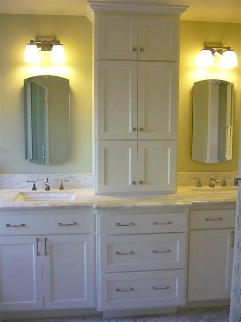 double vanity with tower bathroom vanities for any style sinks tower and storage