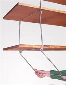 shelf hangers overhead ceiling mount storage unit