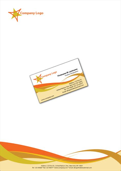 Business Card Design Templates Illustrator by 3 Illustrator Letterhead Template Company Letterhead