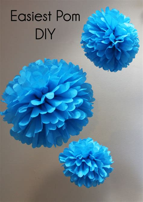 How To Make Large Tissue Paper Pom Poms - easiest pom diy handmade decor the flair exchangethe