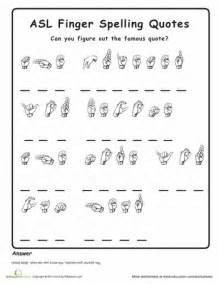 Sign language words and phrases worksheets american sign language