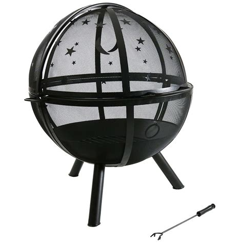 pit diameter sunnydaze flaming pit diameter sphere with
