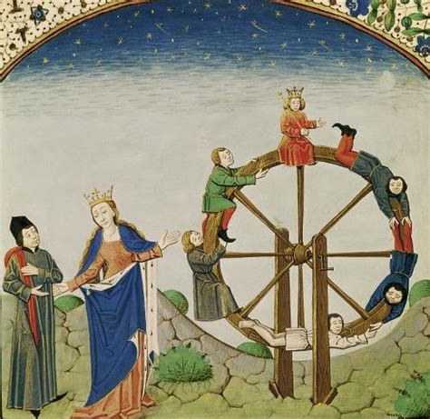 Around The House Wheel Of Fortune by Boethius With The Wheel Of Fortune Print By