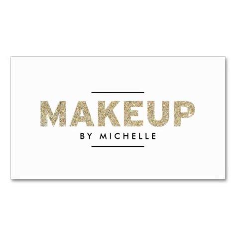 text business card templates modern gold glitter makeup artist business card template