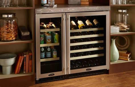 glass door wine beverage center marvel 24 quot glass door wine cellar 61wcm704 marvel 15
